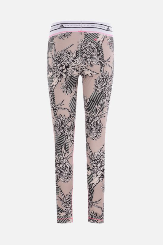 ADIDAS BY STELLA McCARTNEY: floral print technical jersey leggings Color Pink_2