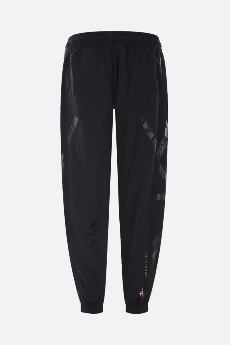 ADIDAS BY STELLA McCARTNEY: recycled nylon joggers Color Black_2