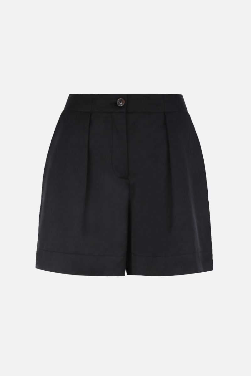 SEE BY CHLOÈ: technical cotton shorts Color Black_1