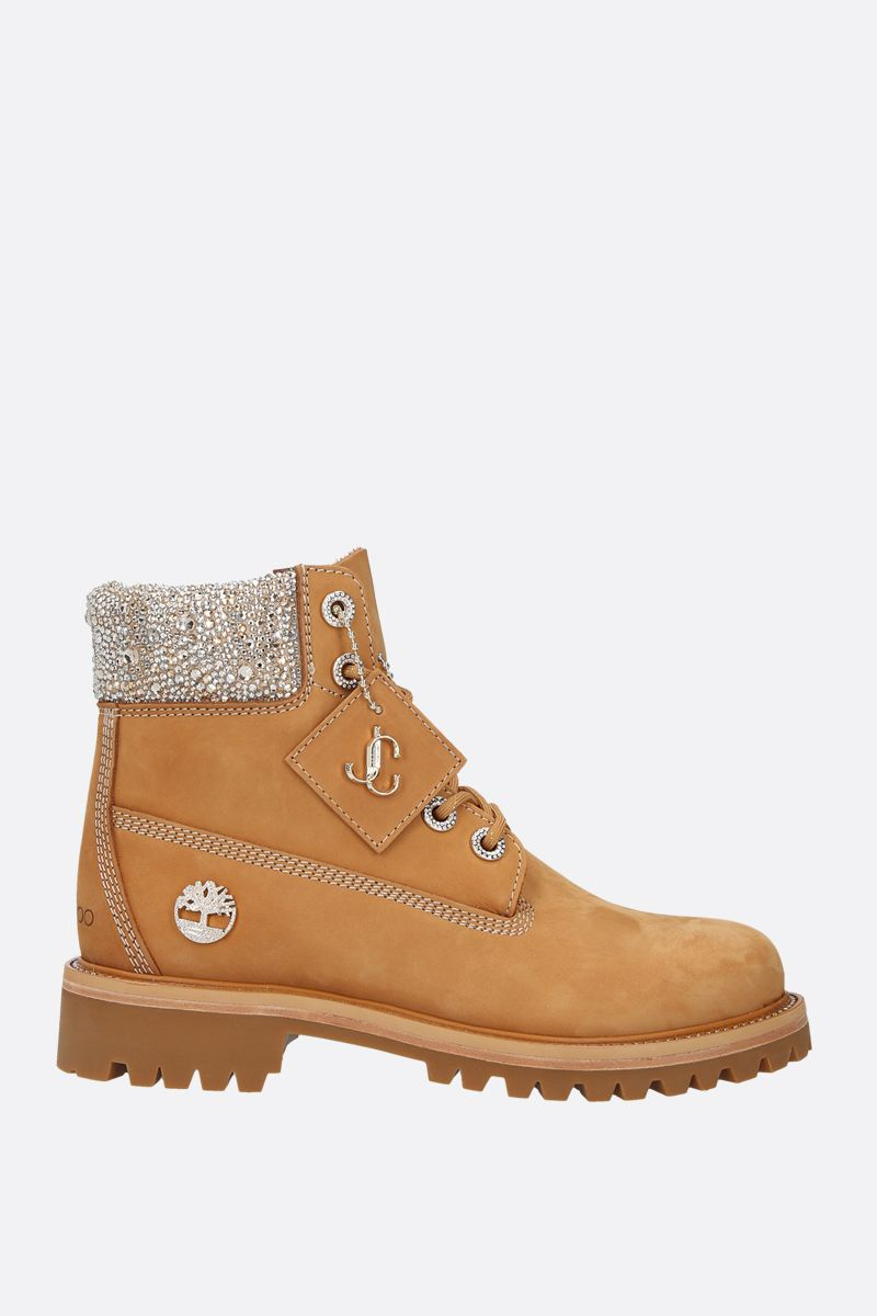 JIMMY CHOO: JC xTimberland/F nabuck boots Color Yellow_1