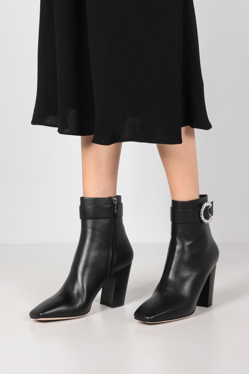 JIMMY CHOO: Myan smooth leather ankle boots Color Black_2