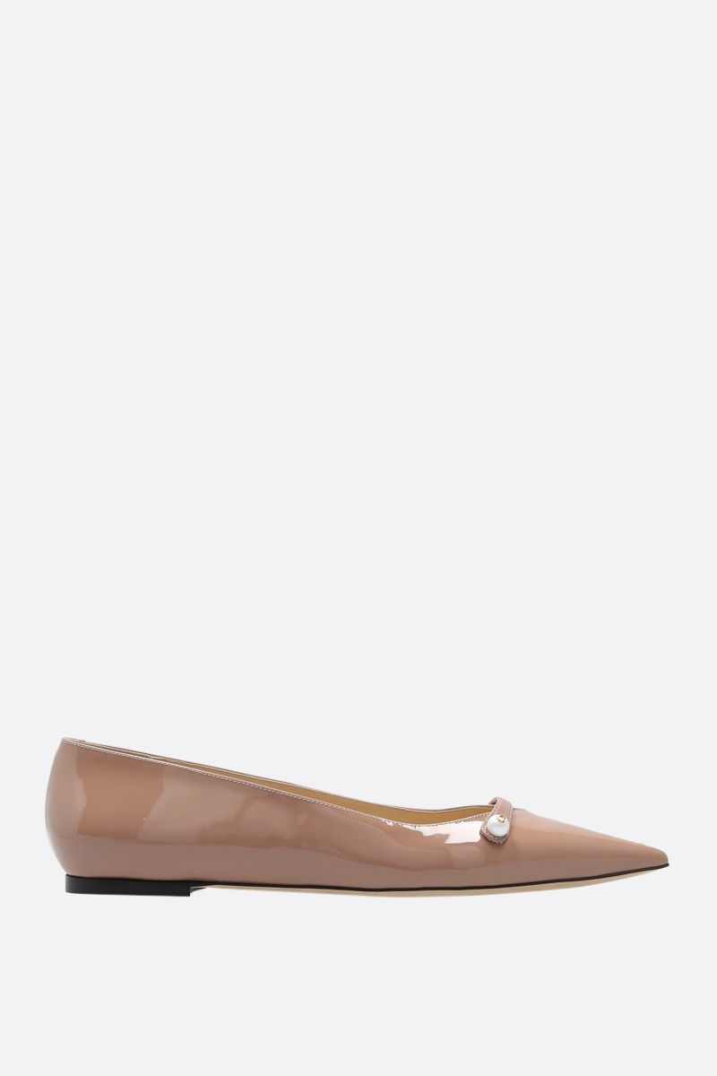JIMMY CHOO: Rosalia patent leather ballerinas Color Pink_1
