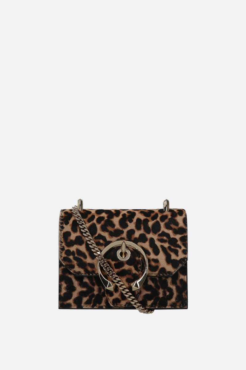 JIMMY CHOO: borsa a tracolla mini Paris in cavallino leopardato Colore Animalier_1