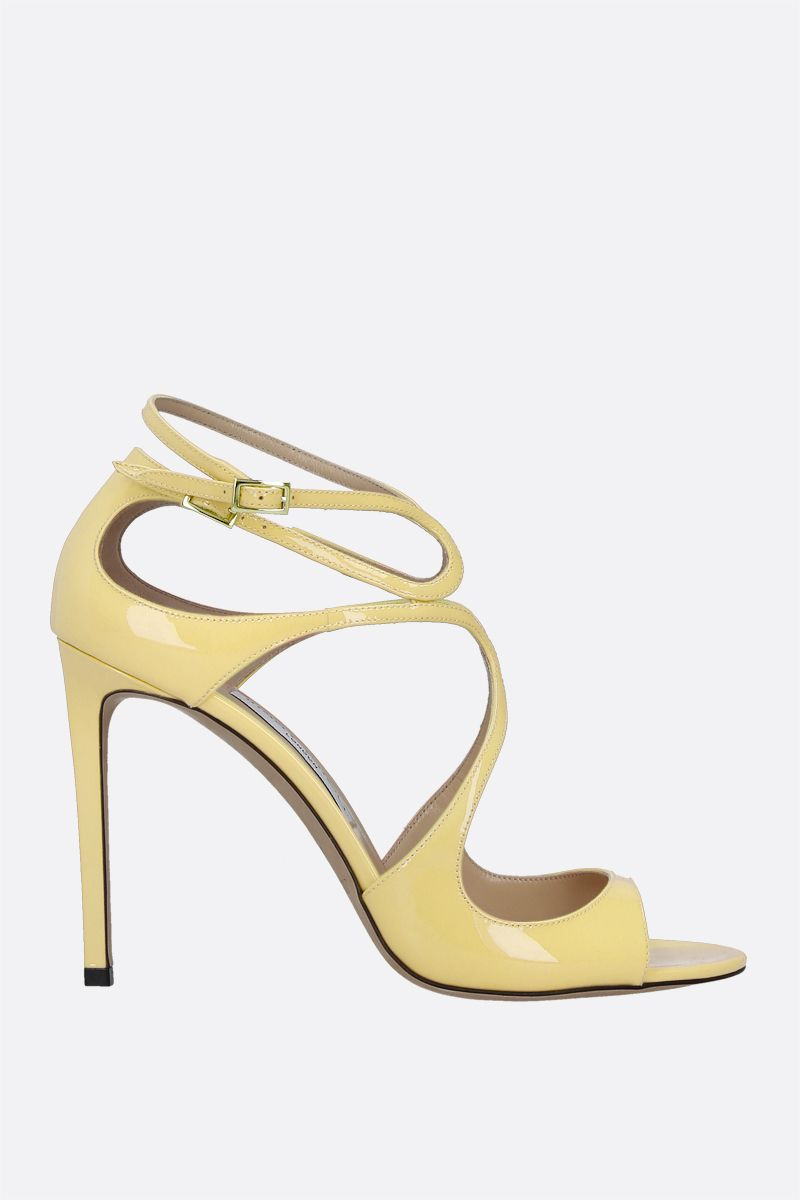 JIMMY CHOO: Lang patent leather sandals Color Yellow_1
