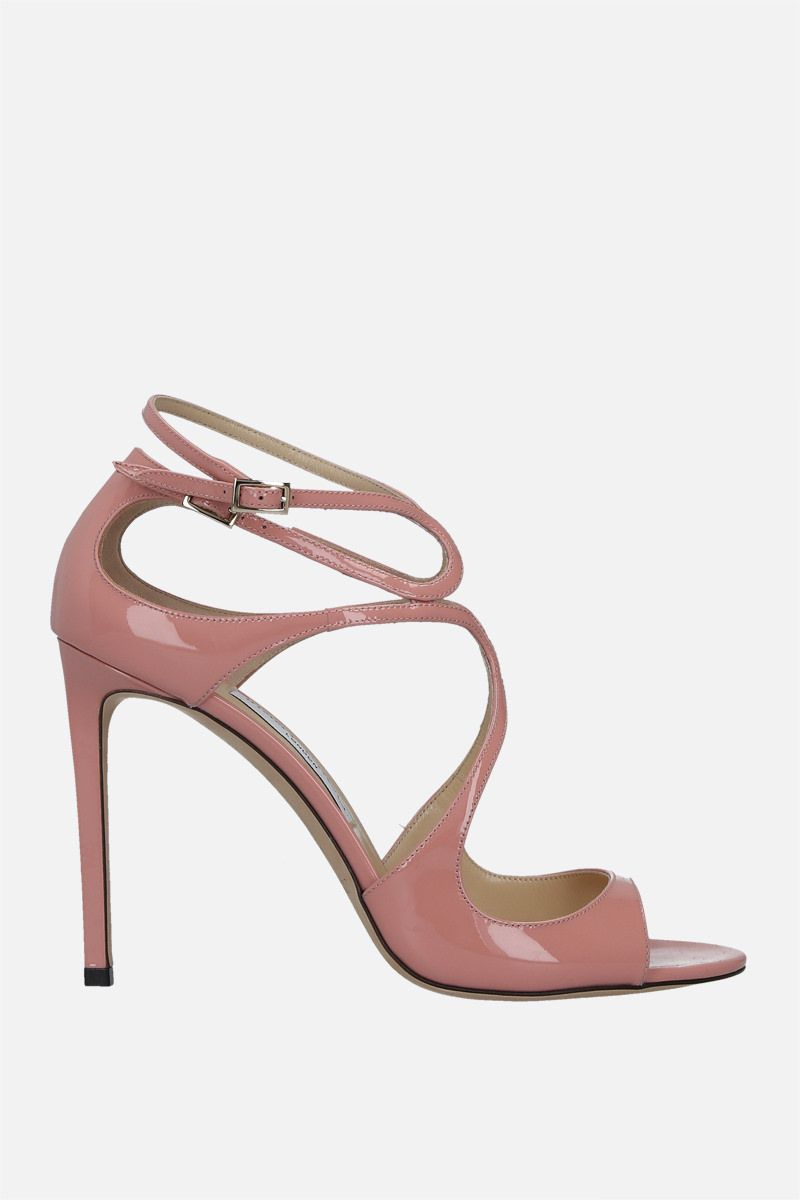 JIMMY CHOO: Lang patent leather sandals Color Pink_1
