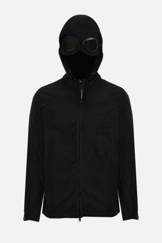 CP COMPANY: Goggle windbreaker in Chrome-R fabric Color Black_2