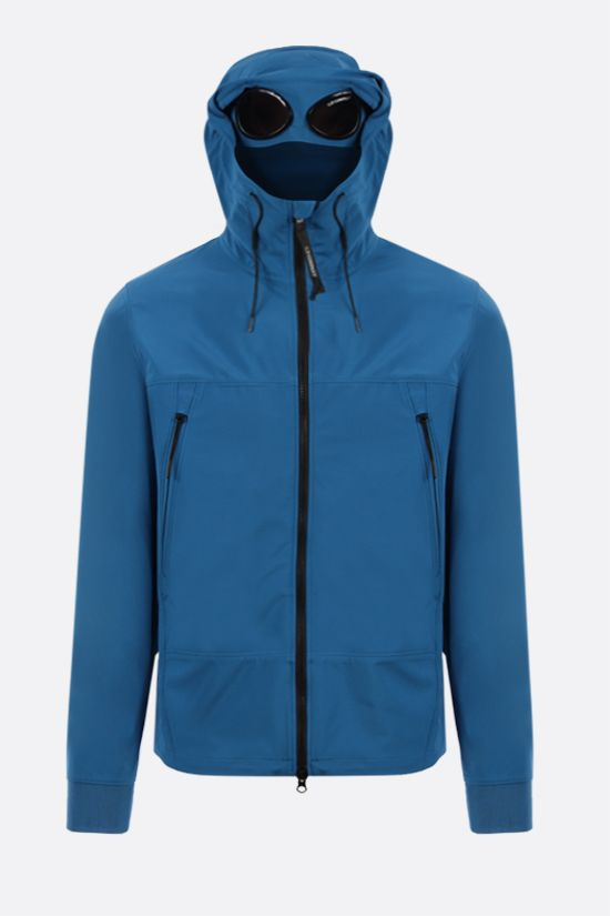 CP COMPANY: Goggle windbreaker in CP Shell-R fabric Color Blue_2