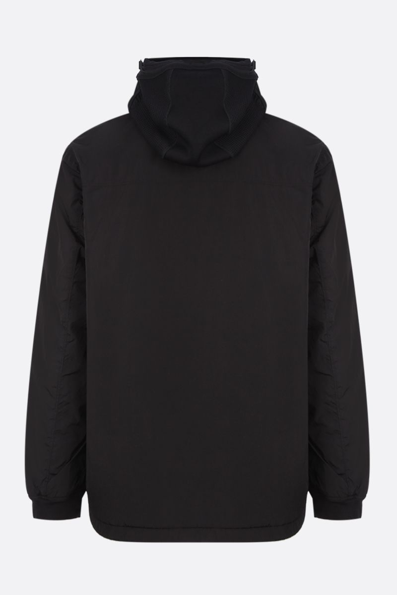CP COMPANY: logo-detailed anorak in Chrome-R Color Black_2