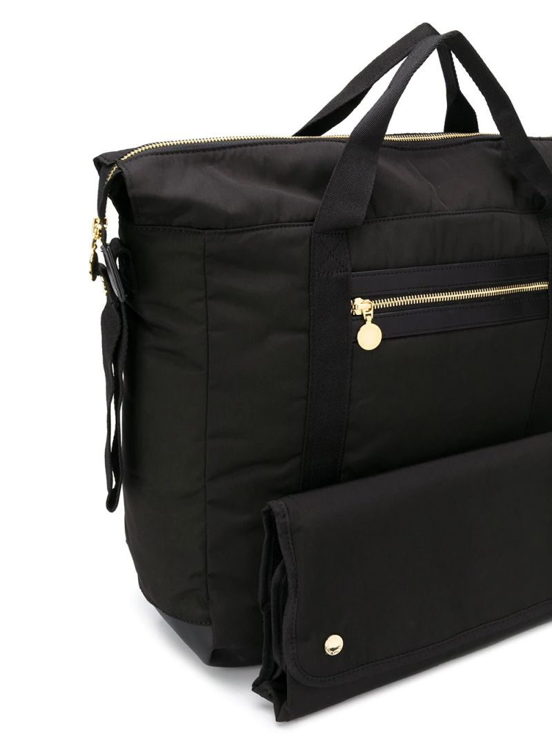 STELLA McCARTNEY KIDS: nylon backpack with changing mat Color Black_2