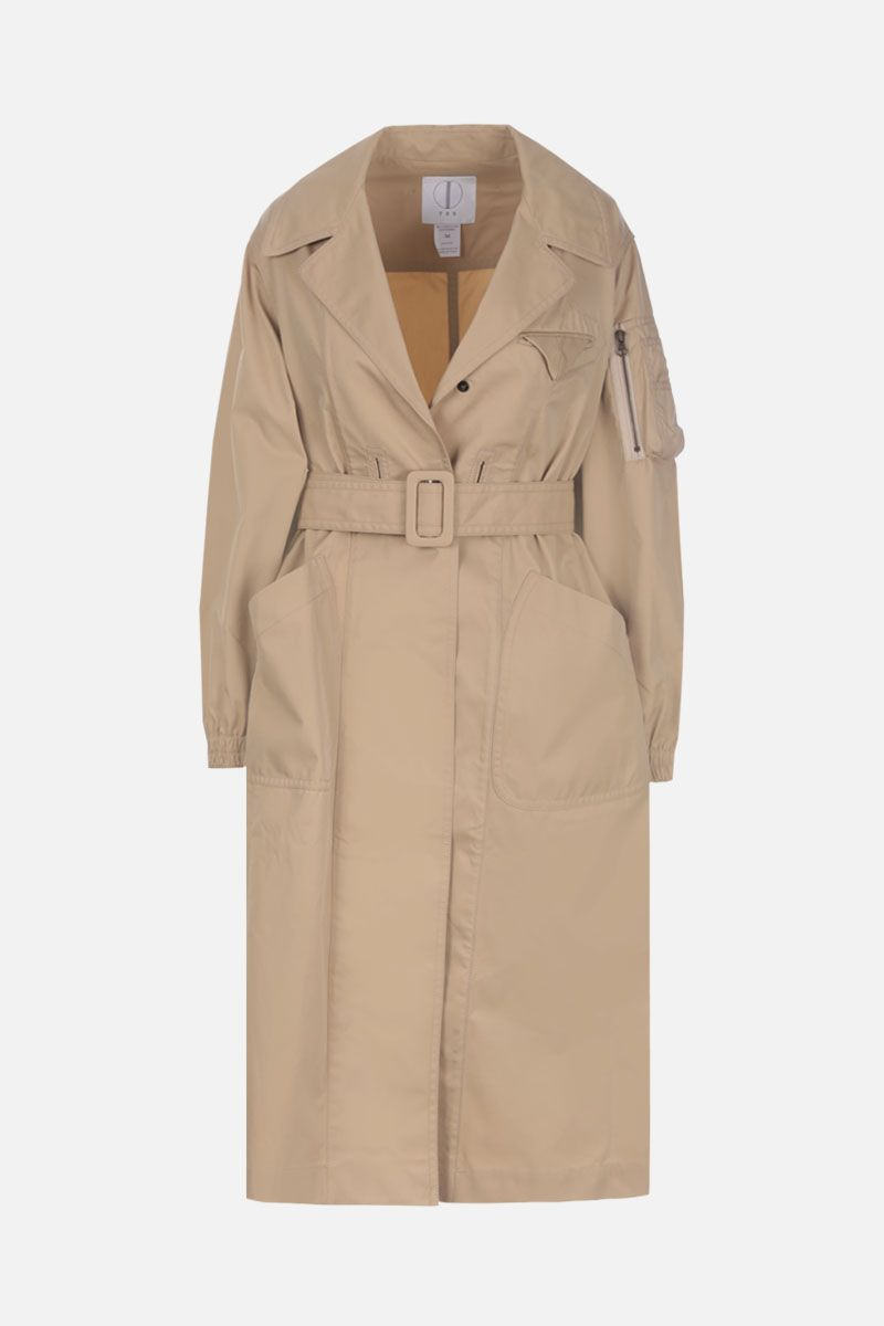 TRE by NATALIE RATABESI: technical cotton single-breasted trench coat Color Neutral_1