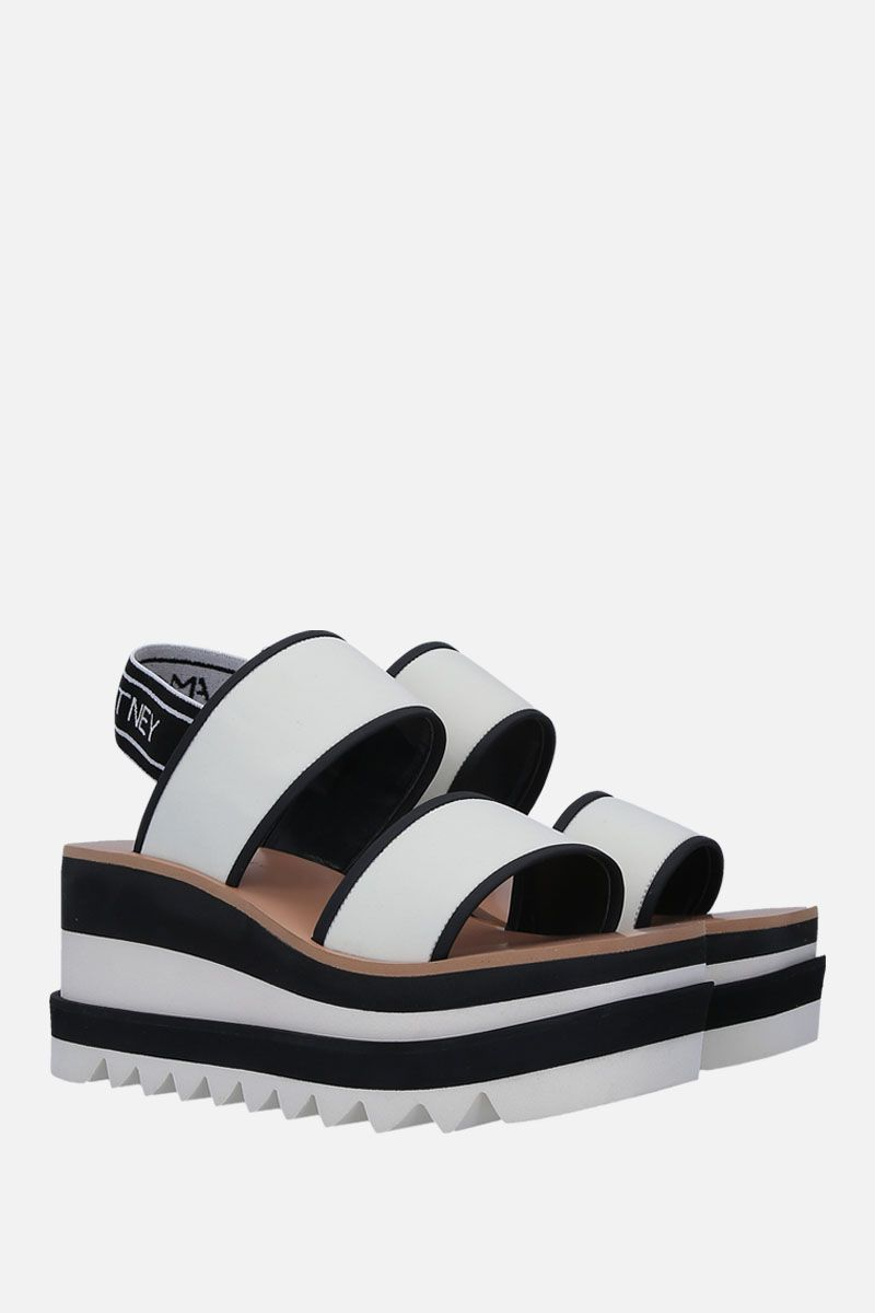 STELLA McCARTNEY: neoprene flatform sandals_2
