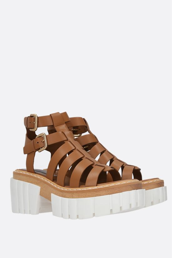 STELLA McCARTNEY: Emilie platform sandals in Alter Nappa Color Brown_2