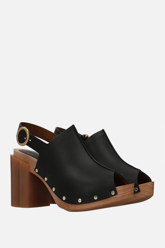 STELLA McCARTNEY: Daisy platform sandals in Alter Mat Color Black_2