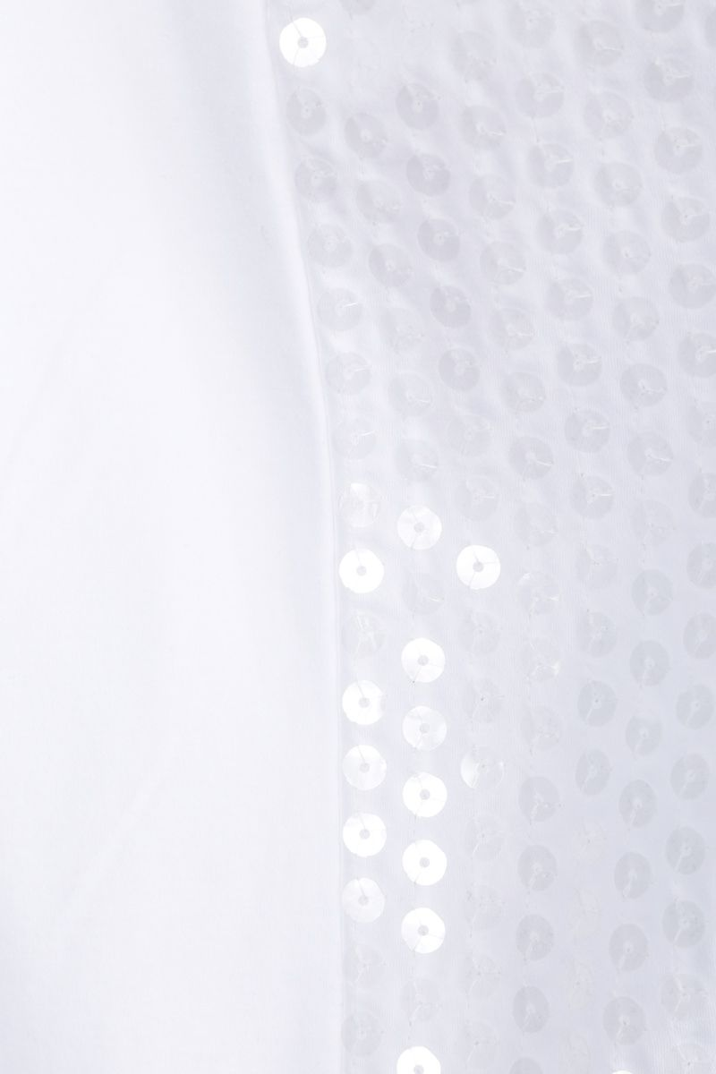 JUNYA WATANABE: t-shirt in cotone con paillettes Colore White_3