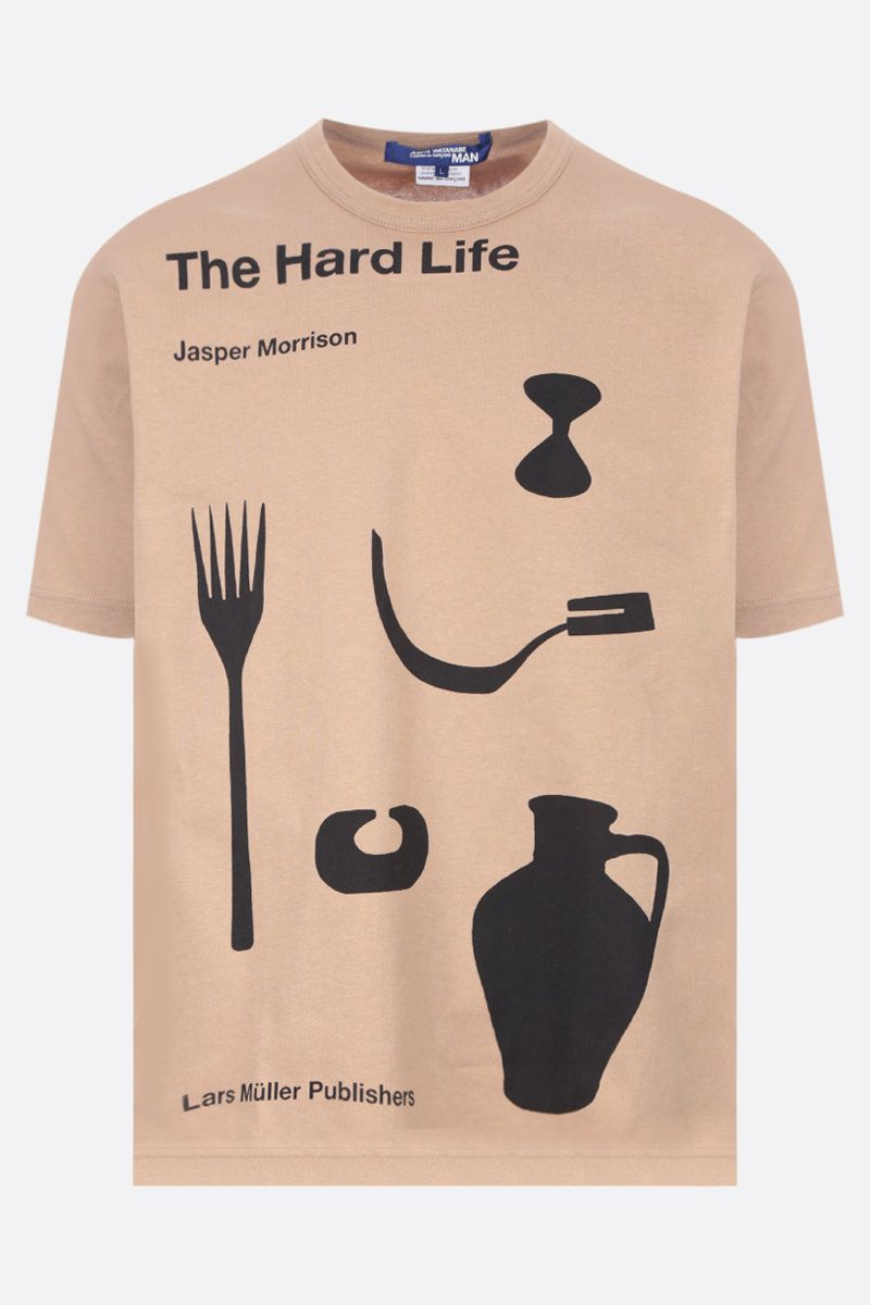 JUNYA WATANABE: t-shirt in cotone stampa The Hard Life Colore Multicolor_1