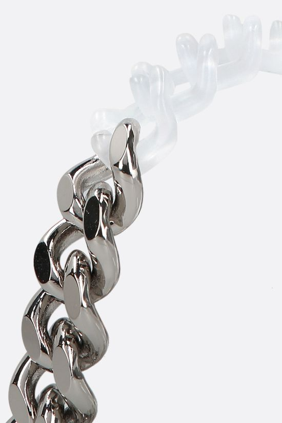 1017 ALYX 9SM: metal and nylon chain bracelet Color Silver_2