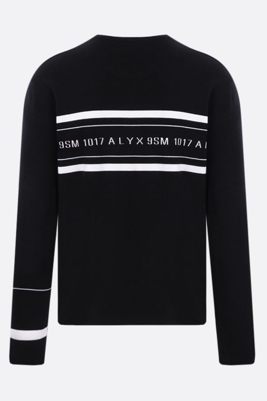 1017 ALYX 9SM: Logo Multi Stripe stretch viscose pullover Color Black_2
