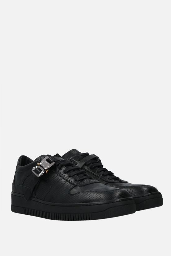 1017 ALYX 9SM: Rollercoaster buckle-detailed leather sneakers Color Black_2