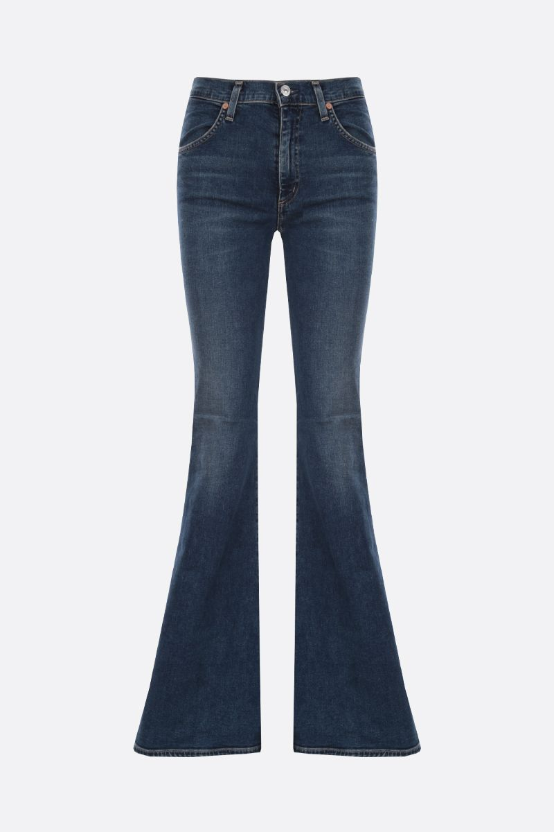 CITIZENS OF HUMANITY: jeans super flare Chloe Colore Blu_1