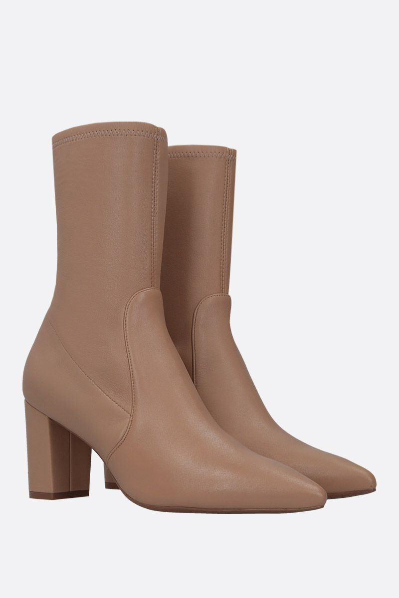 STUART WEITZMAN: Landry ankle boots in soft nappa Color Neutral_2
