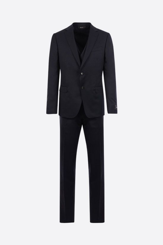 Z ZEGNA: lightweight wool three-piece suit Color Blue_1