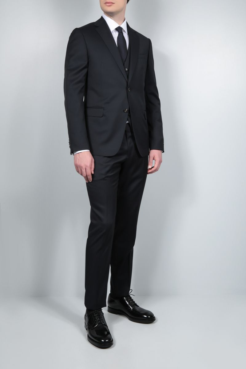 Z ZEGNA: lightweight wool three-piece suit Color Blue_2